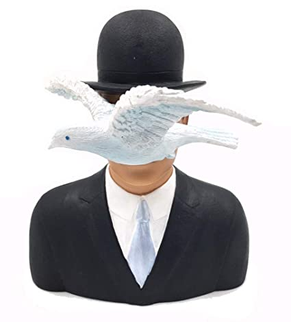 Image Unavailable. Image not available for. Color  Parastone Magritte Man  with Bowler Hat and Dove L Homme au Chapeau Melon ... b61e3fd2f504