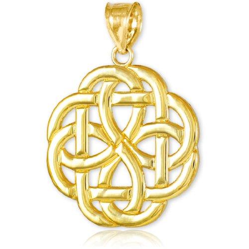 14k Gold Triquetra Celtic Trinity Pendant