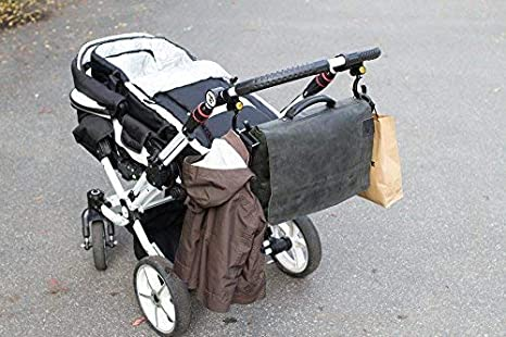 Ganchos Carro De Bebé I Gancho Cochecitos, Carritos Y Sillas De Paseo I Giratorios I 2 Piezas I Color Negro I De Biddy: Amazon.es: Bebé