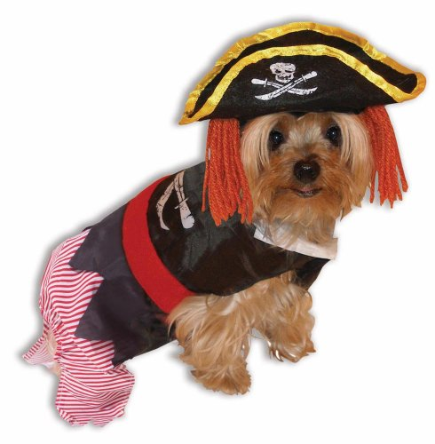 Dog Pirate Treasure Chest Costume (Forum Novelties 64862 Pet Pirate Costume Large - For Dogs & Cats)