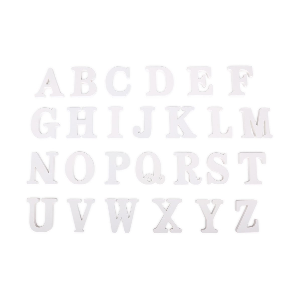 DODOING Decorative Wood Letters, Hanging Wall 26 Letters DIY Wooden Alphabet Ornaments Crafts Wall Plaque Letter for Children Baby Name Bedroom Office Wedding Brithday Party Home Decor White
