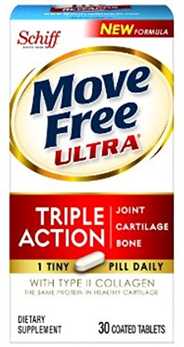Move Free Ultra Joint Supplement w/ Collagen & Hyaluronic Acid 30 ea (Pack of 7) by Schiff Bio Food