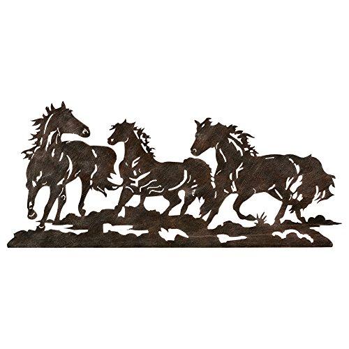 Black Forest Decor Metal Running Horse Western Wall Art