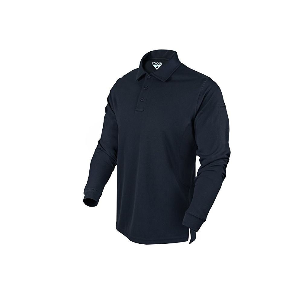 Condor Performance Polo Long Sleeve, Navy Blue - XL