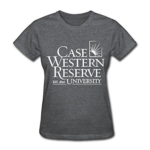 Women's Case Western Reserve University O-neck Tees Size L DeepHeather