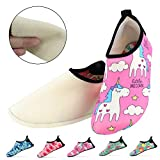 Kids Slippers, Bridawn Anti-slip House Slipper Cartoon Animal Slip-on Shoes with Warm & Soft Plush Lining for Boys Girls Toddlers Infants