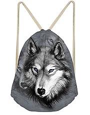 MODEGA Galaxy Wolf Trekkoord Tas Rugzak voor Tieners Meisje Jongens Gym Tas Zwemmen Sport School Tassen Boekentas Satchel Roping Waterdicht