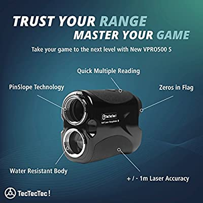 TecTecTec Laser Golf Rangefinder VPRO500S Slope with Battery by TecTecTec