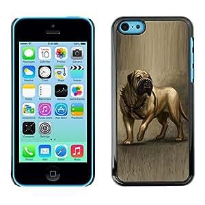 Be Good Phone Accessory // Dura Cáscara cubierta Protectora Caso Carcasa Funda de Protección para Apple Iphone 5C // English Mastiff Painting Art Dog Canine