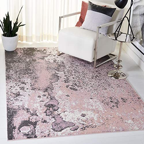 Safavieh Glacier Collection GLA124U Modern Abstract Non-Shedding Stain Resistant Living Room Bedroom Area Rug