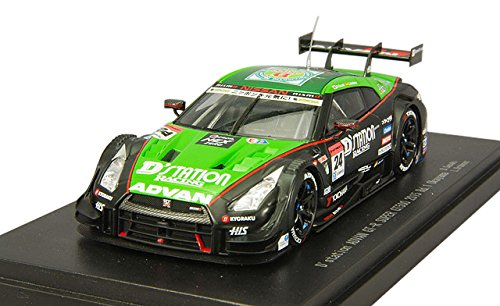(Ebbro 45263 DStation Advan Super GT-R Okayama 2015 No.24 Green Black 1/43 scale)