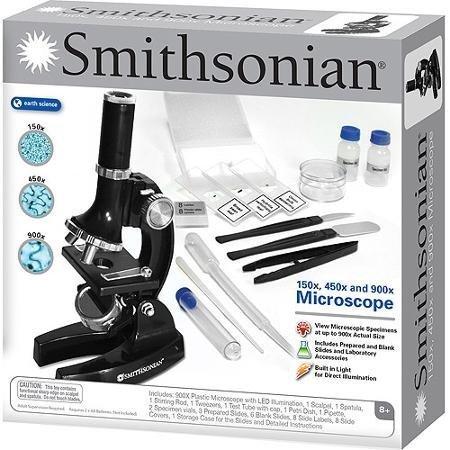 Smithsonian 150x/450x/900x Microscope Kit