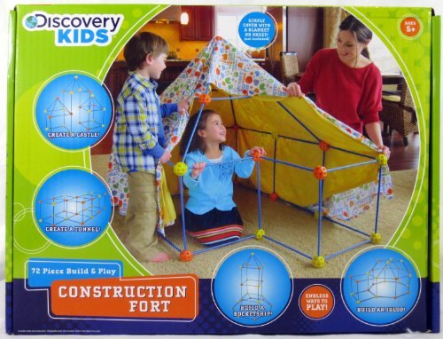 Discovery Kids Toys (72 Piece Build and Play Construction Fort)