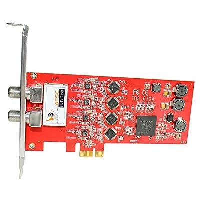 TBS ATSC/ Clear QAM Quad Tuner PCIe Digital TV Card for Window/ Linux/ HTPC/IPTV Server