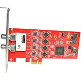 TBS ATSC/ Clear QAM Quad Tuner PCIe Digital TV Card for Window/ Linux/ HTPC/IPTV Server