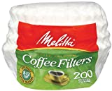 Melitta Basket Coffee Filters, 200 ct