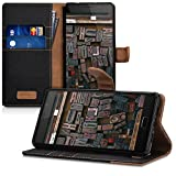 kwmobile Wallet Case for Lenovo P2 - Fabric and