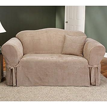Amazon.com: Sure Fit Soft Suede 1-Piece - Sofa Slipcover ...