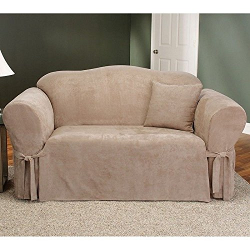 Amazoncom Sure Fit Soft Suede 1Piece Loveseat Slipcover