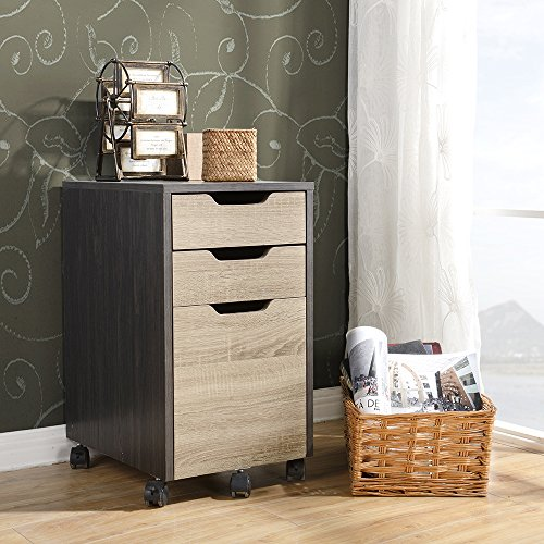 (HOMESTAR Z1610467 Reclaimed Wood Finish Filing Cabinet, Java)