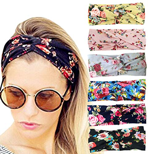 DRESHOW 6 Pack Women's Headbands Headwraps Hair Bands Bows Accessories (Best Boutique Gaming Pc)