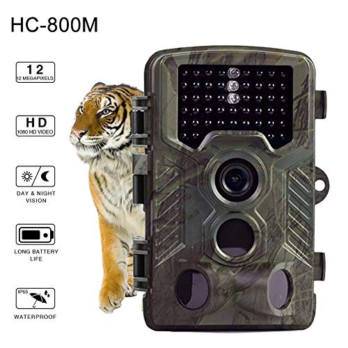 (Outdoor Game Hunting Cameras H1 HD 16MP Trail Camera Day & Night Ultra Fast Motion Detection, 0.2s Trigger Speed, LED Flash Photo, Video Hunting Game Personal Surveillance Cam)