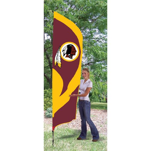Party Animal Washington Redskins Tall Team Flag