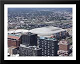 Edward Jones Dome 36x28 Large Black Wood Framed Print Art - Home of the St. Louis Rams