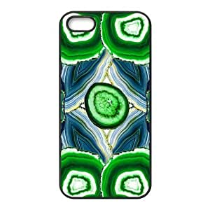 Case, For Case Samsung Galaxy S5 Cover - Fashion Style New Moss Agate,Jacinth,Anamethyst Painted Pattern PC Soft For Case Samsung Galaxy S5 Cover (Black/white)