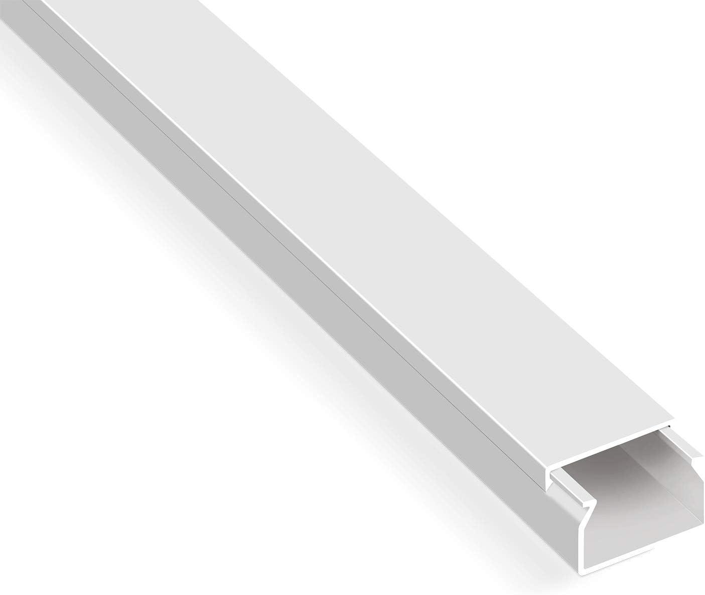 10x 100cm 16x16mm Kabelkanal Kabelleiste Kabel Kanal PVC Schwarz Selbstklebend