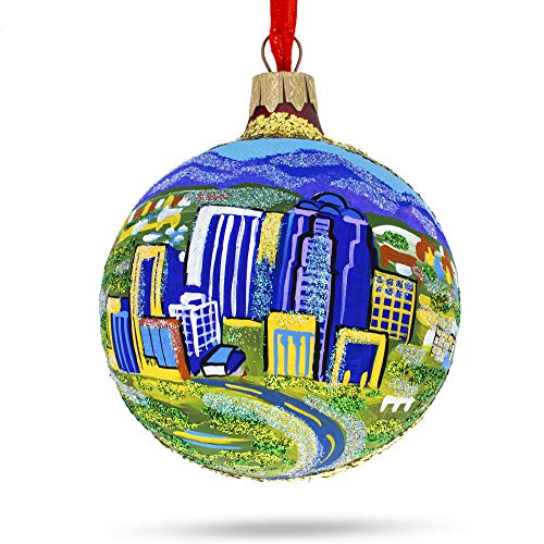 BestPysanky Tucson, Arizona Glass Ball Christmas Ornament (Glass Ornaments Painted Hand Ball)