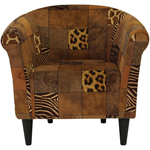 "Parker Lane uch-MRL-pon3 Safari Club Chair, 1"", Patchwork Print"