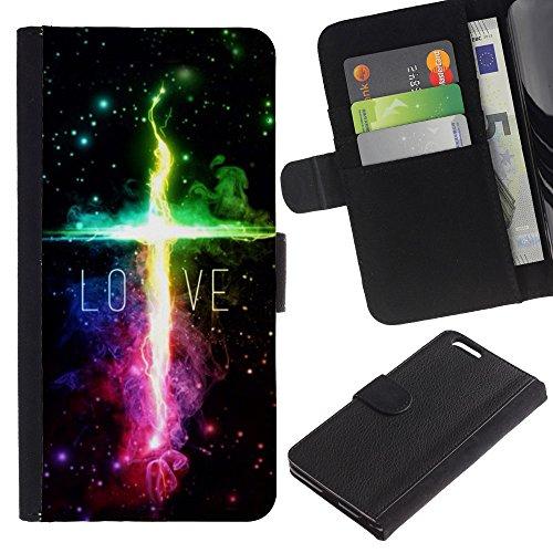 EuroCase - Apple Iphone 6 PLUS 5.5 - LOVE - Cuir PU Coverture Shell Armure Coque Coq Cas Etui Housse Case Cover