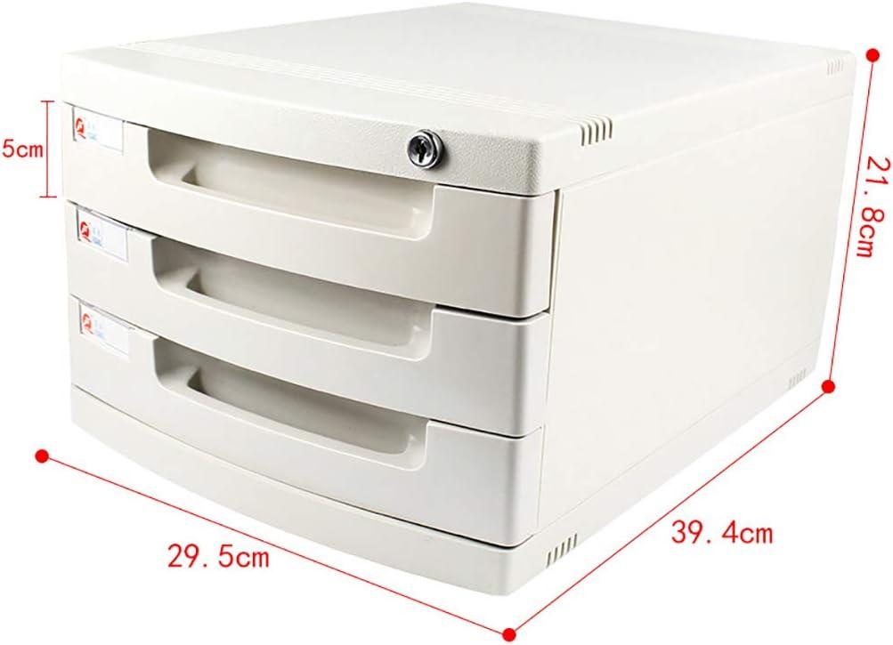 ZCCWJG Archiviazione per cassettiera archivio di archiviazione con Serratura per archivio A4 Ufficio Bianco Dimensioni : B Dimensioni: 394 * 295 * 430mm