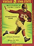 Vintage Iowa State Cyclones 2018 College Football Calendar: Football Game-day Program Art: 1900s to 1970s