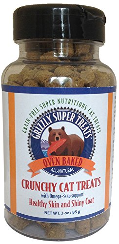 Grizzly Super Treats Crunchy Cat Treats, 3 Ounces