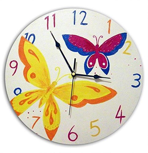 Childrenu0027s Butterfly Clock. Nursery Wall Clock. Kids Bedroom Decor
