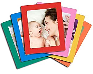 amazon com 6 pack magnetic picture frames for refrigerator 5x7