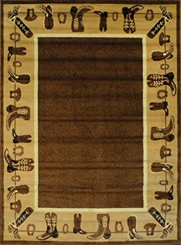 Cowboy Area Rug #L 375 (5 Ft. 2 in. X 7 Ft. 3 in.)