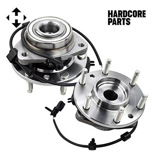 Wheel Hub Bearing Assembly (2) Chevy Trailblazer GMC Envoy, Front w/ ABS 6 Lug 513188 (Bearing Trailblazer Wheel)