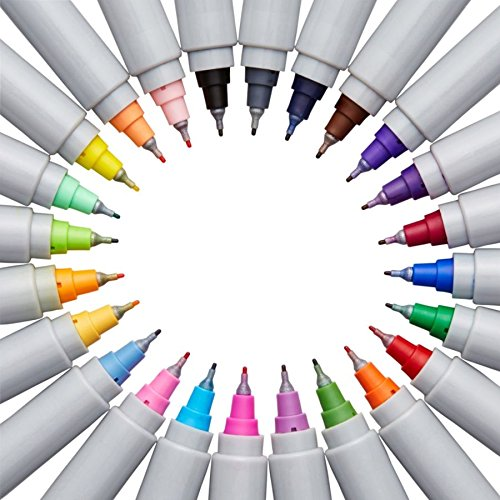 Sharpie Electro Pop Permanent Markers, Ultra Fine Point, Assorted Colors, 24 Count by Sharpie (Image #3)