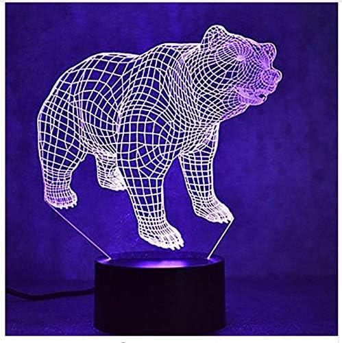 Lámpara de mesa Led 3D Sueño del bebé Oso Polar Regalos de ...
