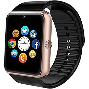 Smart Watch for Android Phones with SIM Card Slot Camera, Bluetooth Watch Phone Touchscreen Compatible iOS Phones, Smart Fitness Watch with Sleep ...