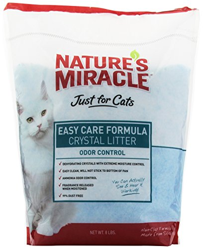 Nature's Miracle Just for Cats Easy Care Crystal Litter, 8-Pound (P-5370)
