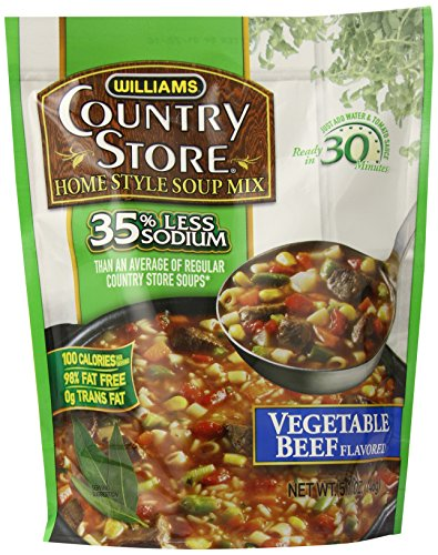 Country Store Soup, Reduced Sodium, Vegetable Beef, 5.1-Ounce (Pack of 6)