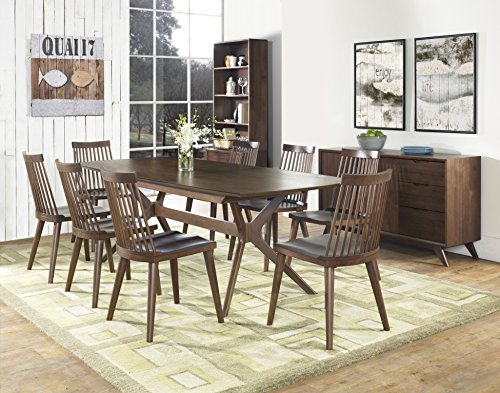 Coastlink Hawaii Walnut Extension Dining Set For 8 - Spindle Back Chairs