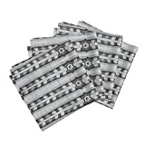 Roostery Neutral Regular Native Folk Arrows Linen Country Organic Sateen Dinner Napkins Native_03 by Chicca Besso Set of 4 Dinner Napkins