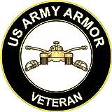 "3.8"" US Army Armor Veteran Decal Sticker"