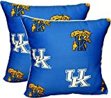 Kentucky Wildcats UK Set of 2 Decorative Throw Pillow