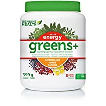 GENUINE HEALTH GREENS+ EXTRA ENERGY ORANGE 399 G